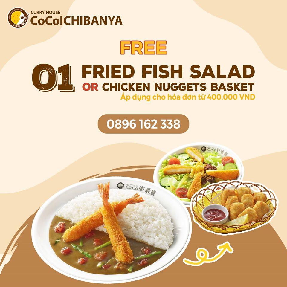 Cơm cà ri - ưu đãi Free 01 Fried Fish Chicken hoặc 01 Chicken Nugget Basket