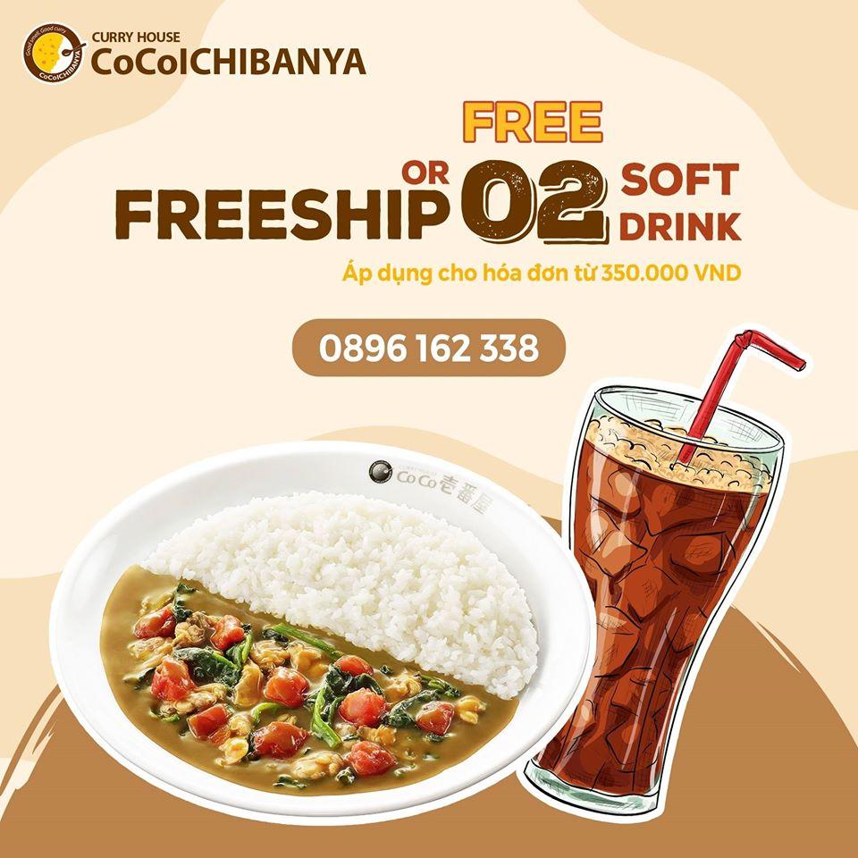 Cơm cà ri - Ưu đãi Free 2 soft drink