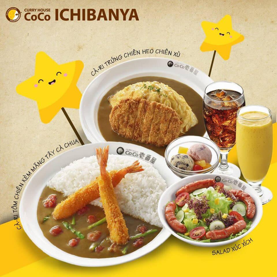Coco Ichibanya có những món ăn nước uống gì
